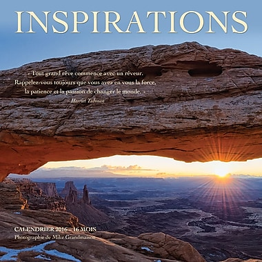 2016 BrownTrout Publishers 12-Month Wall Calendar, Inspiration, 12