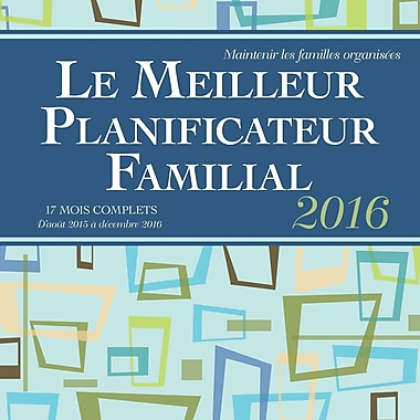 2016 BrownTrout Publishers 12-Month Wall Calendar, Le Meilleur Planificateur Familial, French
