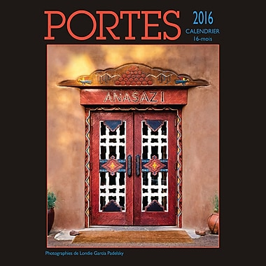 2016 BrownTrout Publishers 12-Month Wall Calendar, Portes, 12