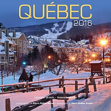 2016 BrownTrout Publishers 12-Month Wall Calendar, Quebec, 12