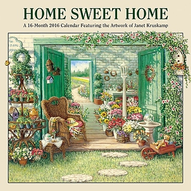 2016 BrownTrout Publishers 12-Month Wall Calendar, Home Sweet Home, 7