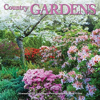 2016 BrownTrout Publishers 12-Month Wall Calendar, Country Gardens, 12