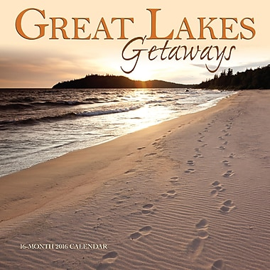 2016 BrownTrout Publishers 12-Month Wall Calendar, Great Lakes Getaways, 12