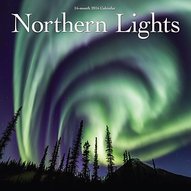 2016 BrownTrout Publishers 12-Month Wall Calendar, Northern Lights, 12