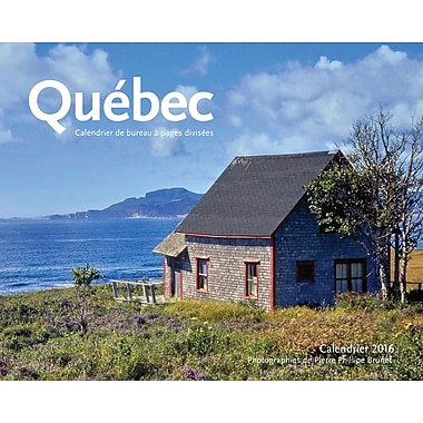 2016 BrownTrout Publishers 12-Month Double-View Easel Desk Calendar, Quebec, French