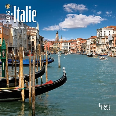 2016 BrownTrout Publishers 12-Month Wall Calendar, Italie, 7