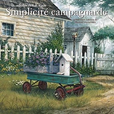 BrownTrout Publishers – Calendrier mural 2016, 12 mois, Simplicite Campagnarde, 12 x 12 po, français
