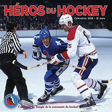 2016 BrownTrout Publishers 12-Month Wall Calendar, Heros Du Hockey, 12