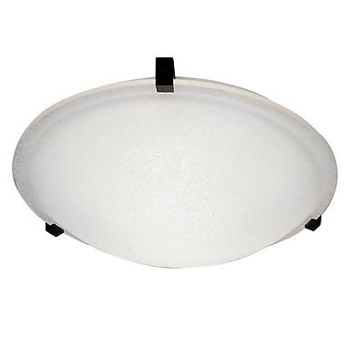 PLC Lighting Nuova Flush Mount; Rust / Frost / 3'' H x 8'' W / G9