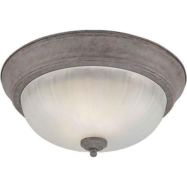 Forte Lighting 11.25'' 2 Light Flush Mount; 13.25'' H x 6.25'' W / Desert Stone