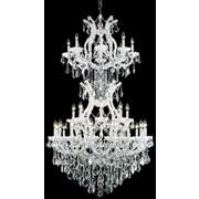 Elegant Lighting Maria Theresa 34 Light  Chandelier; White / Crystal (Clear) / Elegant Cut
