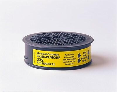 Sundstrom Safety Chemical Cartrdige, SR 232, Organic Vapor & Acid Gas, Yellow (H02-3721) 1882637
