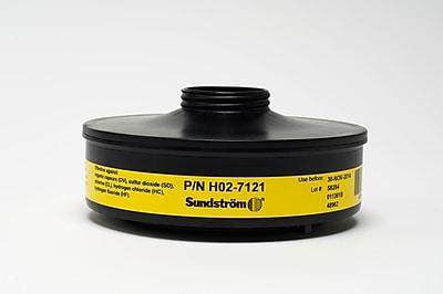 Sundstrom Safety Chemical Cartrdidge, SR 532, Organic Vapor & Acid Gas, Yellow (H02-7121) 1882635