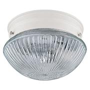 Capital Lighting 2 Light Flush Mount; White