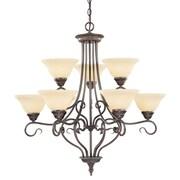 Livex Lighting Coronado 9 Light Chandelier; Imperial Bronze