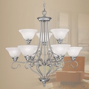 Livex Lighting Coronado 9 Light Chandelier; Brushed Nickel