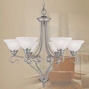 Livex Lighting Coronado 6 Light Chandelier; Brushed Nickel