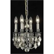 Elegant Lighting Lillie 4 Light Chandelier; Crystal (Clear) / Elegant Cut