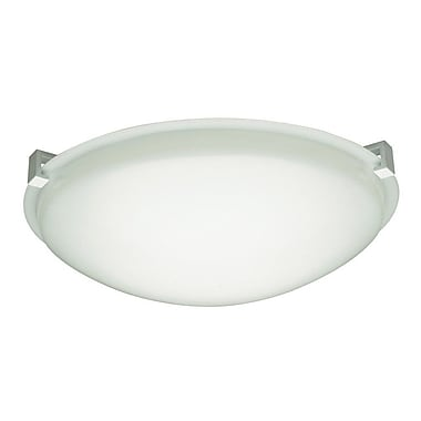 PLC Lighting Valencia Flush Mount; Polished Chrome / 3'' H x 8'' W / G9
