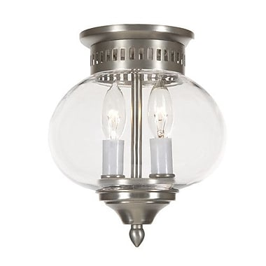 JVI Designs Classic Onions 2-Light Small Flush Mount; Pewter