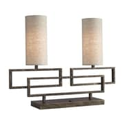 Woodbridge Twin 18.75'' H Table Lamp with Drum Shades