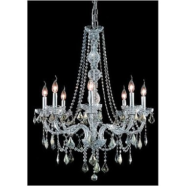 Elegant Lighting Verona 8 Light Chandelier; Chrome / Crystal (Clear) / Spectra Swarovski