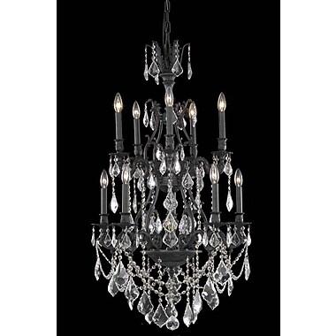 Elegant Lighting Monarch 10 Light Chandelier; Crystal (Clear) / Elegant Cut