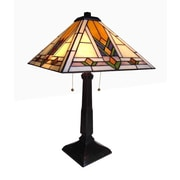 Chloe Lighting Mission 22'' H Table Lamp with Empire Shade