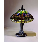 Dale Tiffany Miniature Dragonfly 11'' Table Lamp