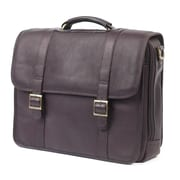 Claire Chase Porthole Leather Laptop Briefcase; Cafe