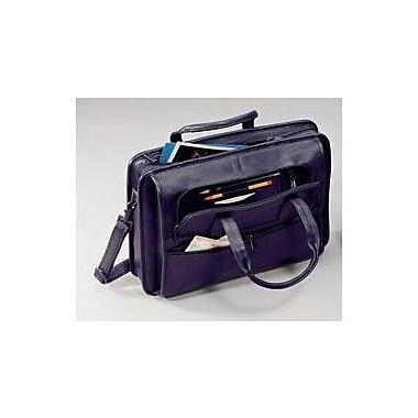 Winn International Cowhide Lightweight Leather Briefcase; Black