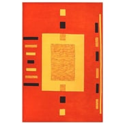 Acura Rugs Contempo Orange/Yellow Area Rug; 5' x 8'