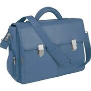 Royce Leather Royce Leather Executive 15'' Laptop Briefcase in Genuine Leather; Cornflower Blue