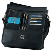 Royce Leather Royce Leather 17'' Large Laptop Briefcase Organizer Bag in Genuine Leather; Black