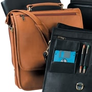 Royce Leather Royce Leather 17'' Large Laptop Briefcase Organizer Bag in Genuine Leather; Tan