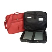 Royce Leather American Genuine Leather 17'' Laptop Slim Briefcase; Red