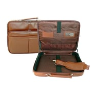 Royce Leather American Genuine Leather 17'' Laptop Slim Briefcase; Tan