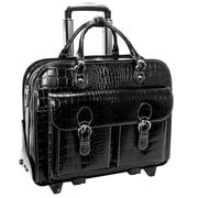 Siamod Monterosso San Martino Leather Laptop Catalog Case; Black