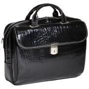 Siamod Monterosso Servano Leather Laptop Briefcase; Black