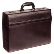 Mancini Business Leather Attache Case; Burgundy