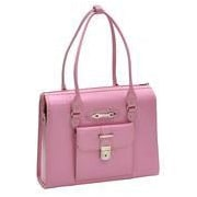 McKlein USA W Series River Forest Leather Laptop Briefcase; Pink