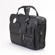 Claire Chase Slimline Executive Leather Briefcase; Saddle