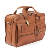 Claire Chase Executive Leather Laptop Briefcase; Saddle