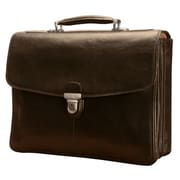 Tony Perotti Green Bella Russo Leather Laptop Briefcase; Cognac