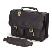 Claire Chase Business Leather Laptop Briefcase; Caf