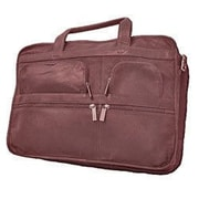 David King Leather Laptop Organizer Briefcase; Cafe / Dark Brown