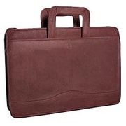 David King Single Leather Briefcase; Cafe / Dark Brown