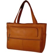 David King Women's Leather Laptop Briefcase; Tan