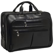McKlein USA R Series Rockford Leather Laptop Briefcase; Black