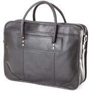 Clava Leather Leather Laptop Briefcase; Black
